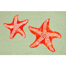 Starfish Seafoam Indoor Outdoor Rug