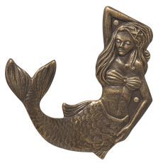 Mermaid Towel Hook (Left), French Bronze