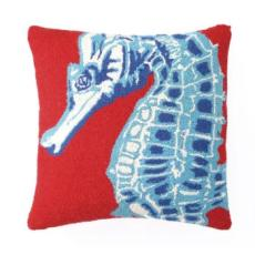 Red Seahorse Pillow
