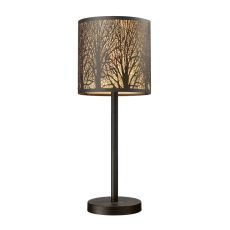 Woodland Sunrise 1 Light Portable Lamp In Aged Bronze
