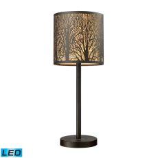 Woodland Sunrise 1 Light Portable Led Lamp In Aged Bronze