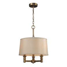 Baxter 3 Light Chandelier In Brushed Antique Brass