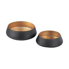 Hammered Metal Bowls - Set Of 2