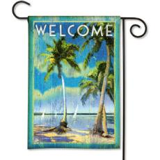 Palm Tree Escape Garden Flag