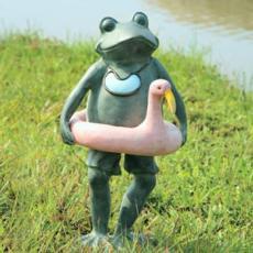 Beach Frog w/Flamingo Friend Set of 2