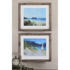 Seascape Framed Art  S/2