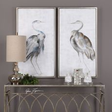 Summer Birds Framed Art S/2