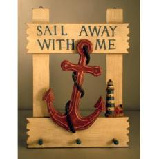 Sail Away Anchor Wall Hook