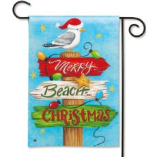 Beach Christmas Garden Flag