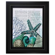 Starfish Under The Sea Framed Art