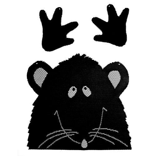 Rat Peek-A-Boo, Set of 3, Black