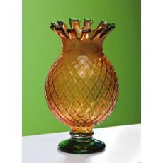 Pineapple Vase Green/Amber