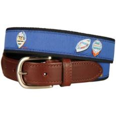 Skiffs and Dories Leather Tab Belt