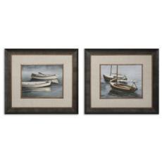 Stillwaters I, II Framed Art  S/2