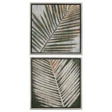 Detailed Palms Art  S/2