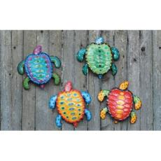 Colorful Sea Turtles  Wall Art  Set of 4