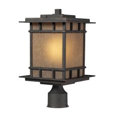 Newlton 1 Light Outdoor Post Lamp In Weathered Charcoal
