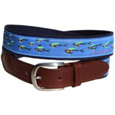 School of Fish Belt, 100% full grain Latigo leather
