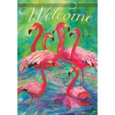 Flamingos Garden Dura Soft Flag
