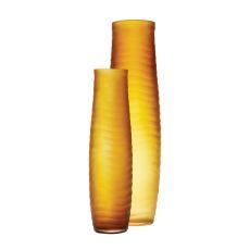 Umber Matte Cut Vases - Set Of 2