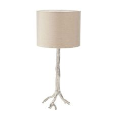 Tree Branch Table Lamp In Nickel