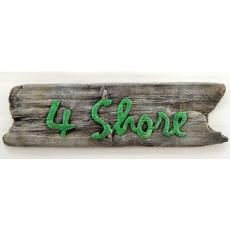 4 Shore Beach Sign
