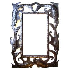 "Fish Metal Mirror 24"" x 20"""