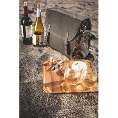 Adventure Wine Tote - Khaki/Brown