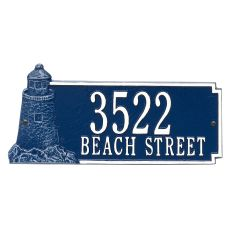 Personalized Lighthouse Rectangle Plaque, Blue / White