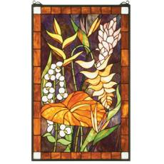Tropical Floral Stained Glass