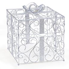 Silver Reception Gift Card Holder