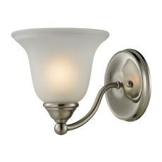Shelburne 1 Light Bathbar  In Brushed Nickel