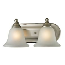 Shelburne 2 Light Bathbar In Brushed Nickel