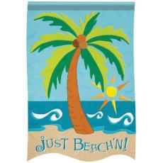 Just Beach'n Garden Flag