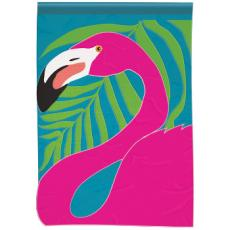 Pink Flamingo Garden Double Appliqu