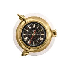 Porthole Clock Aluminum