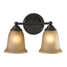 Sudbury 2 Light Bathbar In Oil Rubbed Bronze