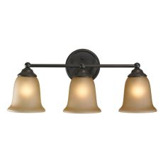 Sudbury 3 Light Bathbar In Oil Rubbed Bronze