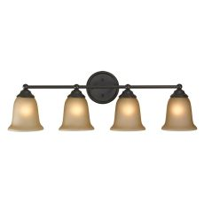 Sudbury 4 Light Bathbar In Oil Rubbed Bronze