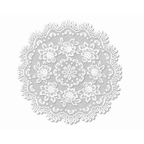 """Rose 30"""" Round Table Topper, Off/White"""