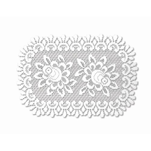 Rose 13X20 Placemat, Off/White