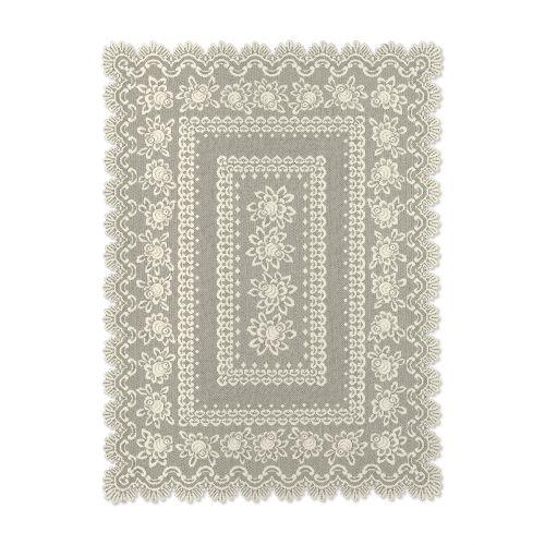 Rose 52X72 Rectangle Tablecloth, Ecru