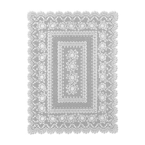 Rose 52X72 Rectangle Tablecloth, Off/White