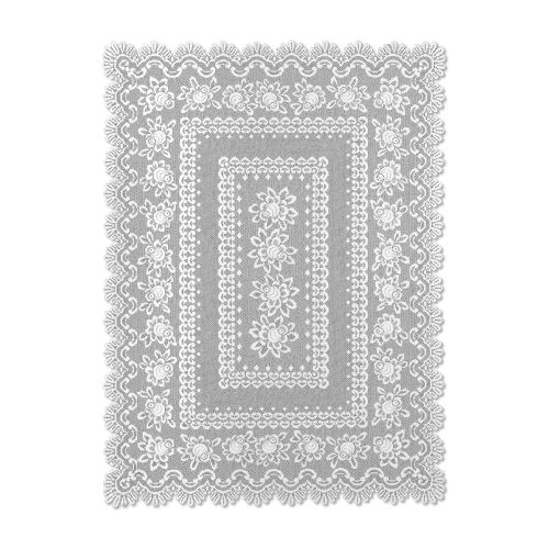 Rose 60X108 Rectangle Tablecloth, Off/White