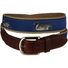 Duck Leather Tab Belt