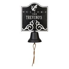 Personalized Anchor Bell Welcome Plaque, Blue / White