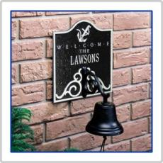 Anchor Bell Welcome Address Plaque