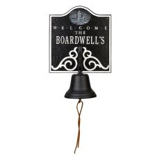 Personalized Lighthouse Bell Welcome Plaque, Blue / White