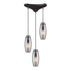 Menlow Park 3 Light Pendant In Oil Rubbed Bronze