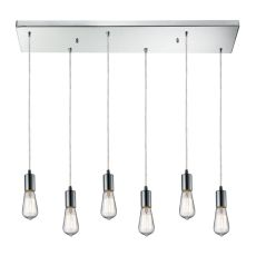 Menlow Park 6 Light Pendant In Polished Chrome